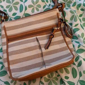 Kim Rogers striped canvas shoulder bag!